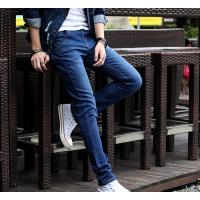2018夏季韩版潮流男士牛仔裤小脚裤修身青少年弹力休闲长裤子薄款