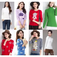 江苏徐州厂家换季亏本清货女式T恤便宜圆领短袖纯棉T恤2元亏本处理