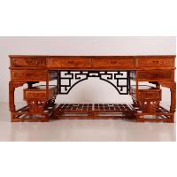 中国红木家具弯脚办公台价格图片名琢世家品牌
