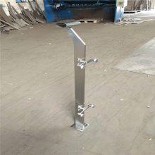 新云 苏州不锈钢夹玻璃护栏 办公楼不锈钢栏杆立柱 护栏BPW235