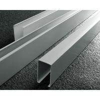 金属U型铝方通价格 25×60×0.5mm滚涂哑白铝方通吊顶防火级别高,绿色环保