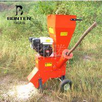 园林机械果树枝粉碎机 四冲程移动式汽油树枝粉碎机邦腾制造