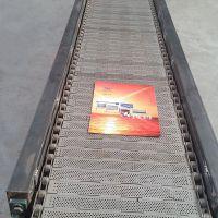 山东宁津卓远定做链板输送机 不锈钢冲孔链板输送机 品质保障