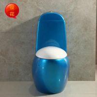 厂家直销蛋形座便器高水箱马桶 可加工色釉 8120