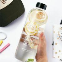 爆款!!!韩国pongdang water大容量高硼硅玻璃杯女士水杯子学生时尚水瓶创意水壶水杯