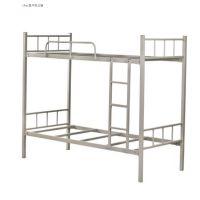 港文厂热销供应优质方管灰白双层铁床 学生铁架床 铁床 简约款学生铁架床