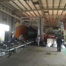 3000mm市政地埋排污钢带增强波纹管