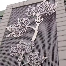 镂空艺术雕花铝单板幕墙-铝单板雕花屏风