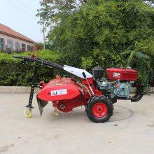 新型多功能四驱微耕机使用视频 自走式果园除草松土机 农用开沟耕地机