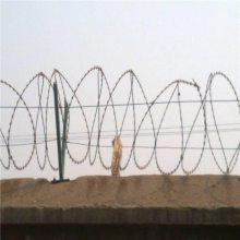 蛇腹型刀片刺网 带刺铁丝网围栏 毛铁线