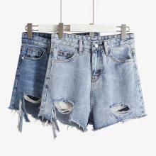 便宜库存杂款女士牛仔短裤便宜高腰弹力小脚裤低价清仓处理几元清仓