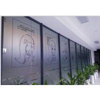 深圳福田玻璃UV白色刻字 玻璃磨砂贴镂空字 透明玻璃贴喷绘
