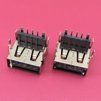 8848高端手机充电接口/垫高USB大电流母座/四脚插板直边/加高型