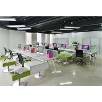 现代简约 广东办公家具 4人组合办公桌屏风 隔断工作位卡位职员桌