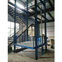 吉安6米固定式升降台定做 厂房货梯 楼层运货提升机 导轨链条式升降平台