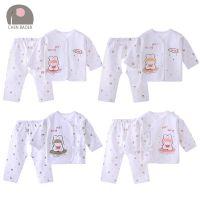 新生儿衣服纯棉春秋初生婴儿内衣套装 出生宝宝两件套和尚服批发