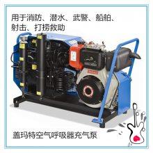 供应潜水盖玛特空气呼吸器充气泵MCH6/ET 便携消防充气泵