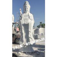 河南南阳镇平县石雕厂生产供应 石雕观音 汉白玉观音神像摆件