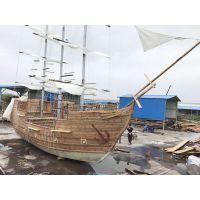 景观木船厂家直销户外装饰船园林景观船影视道具船木质海盗船古战船