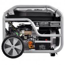 静音汽油5kw发电机 带轮子移动5000瓦发电机