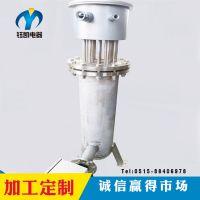 钰凯供应氢气立式安全可靠管道加热器带温控一体化管道电加热器
