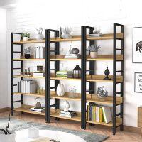 创意钢木书架 现代客厅铁艺置物架 收纳储物架 简约展示架 定制
