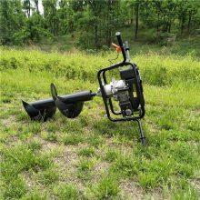 大棚立桩钻孔机 便携式手提挖坑机厂家 园林植树挖坑机使用视频