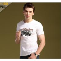 厂家批发男装短袖T恤夏季新款外贸潮牌贴布绣花体恤衫 纯棉t恤