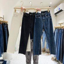 春款牛仔裤批发厂家特价便宜清货女式牛仔裤时尚弹力高腰小脚裤铅笔裤批发