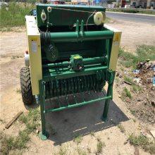 自动进料的圆捆机 秸秆牧草粉碎包膜圆捆机 润丰