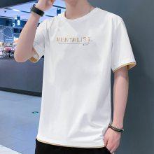 2019夏季韩版男装短袖t恤 便宜地摊服装男式T恤低价批发 纯棉男短袖衫清仓