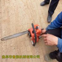 厂家供应鲁强牌合金链条汽油植保挖树机