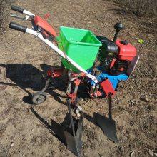 厂家直销农用小型趟地机手扶式免耕施肥机汽油播种机