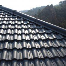 大连凡美塑料瓦片 合成树脂瓦门头 防腐蚀移动房顶 景观公厕屋顶瓦