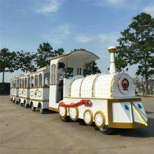 仿古無軌火車廣場公園游樂場設備大型景區兒童電瓶觀光火車戶外