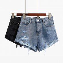 韩版外贸牛仔短裤女 大码女装牛仔裤夏季女装短裤潮地摊热卖批发