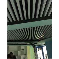 铝方通厂家定做木纹铝方通吊顶【山东幕墙铝方通仿木纹色展厅图书馆专用】