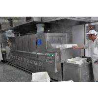 供应不锈钢餐盘洗碗机 河北厨房设备厂家 益友洗盘洗箱一体机