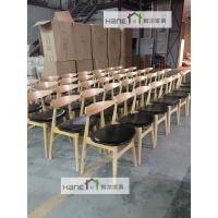 无锡西餐厅HR07桌子椅子定制 餐饮家具批发 韩尔简约实木品牌