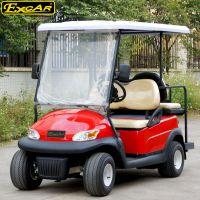 卓越4座A1S2+2紅色觀光電動車|四輪景區旅游高爾夫球車,廠家直銷,售后無憂