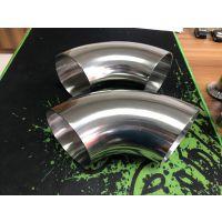 高明304不锈钢卫生级焊接弯头 φ51*2