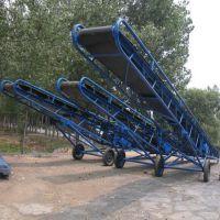 饲料装车输送机 12米长爬坡防滑输送机KL