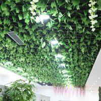 仿真绿叶特大葡萄叶壁挂植物吊顶树叶藤蔓装饰假花藤条厂家批发