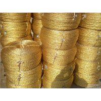 惠州黄金绳打包绳 河源电化铝绳烫金纸绳 大棚压膜绳
