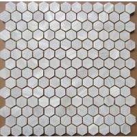 六边形垫瓷砖底盖帽贝壳马赛克 背景墙 厨房 内墙砖 shell mosaic tiles