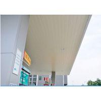 加油站雨棚专用铝扣板_厂家直销加油站雨棚长条铝天花