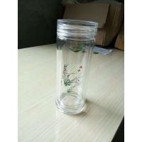 青岛玻璃杯子品牌选亿泉玻璃杯100个起订免费印字接团购订制婚礼订制设计图案也可来样定做企业采购
