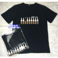 厂家定制精梳棉短袖休闲印花广告T恤 文化衫