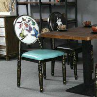 大鲁DL0031金属工业风餐椅