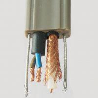 电源线2*0.5/0.75/1.0/1.5/2.0/2.5加同轴视频线加钢丝复合电梯电缆